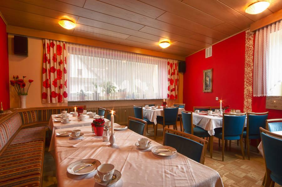 Frühstücksraum Gasthof Wolfsschlucht Muggendorf