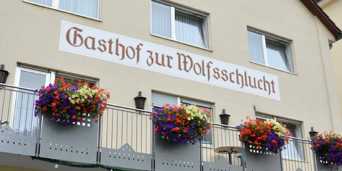 Gasthof zur Wolfsschlucht in Muggendorf im Wiesenttal in der Fränkischen Schweiz