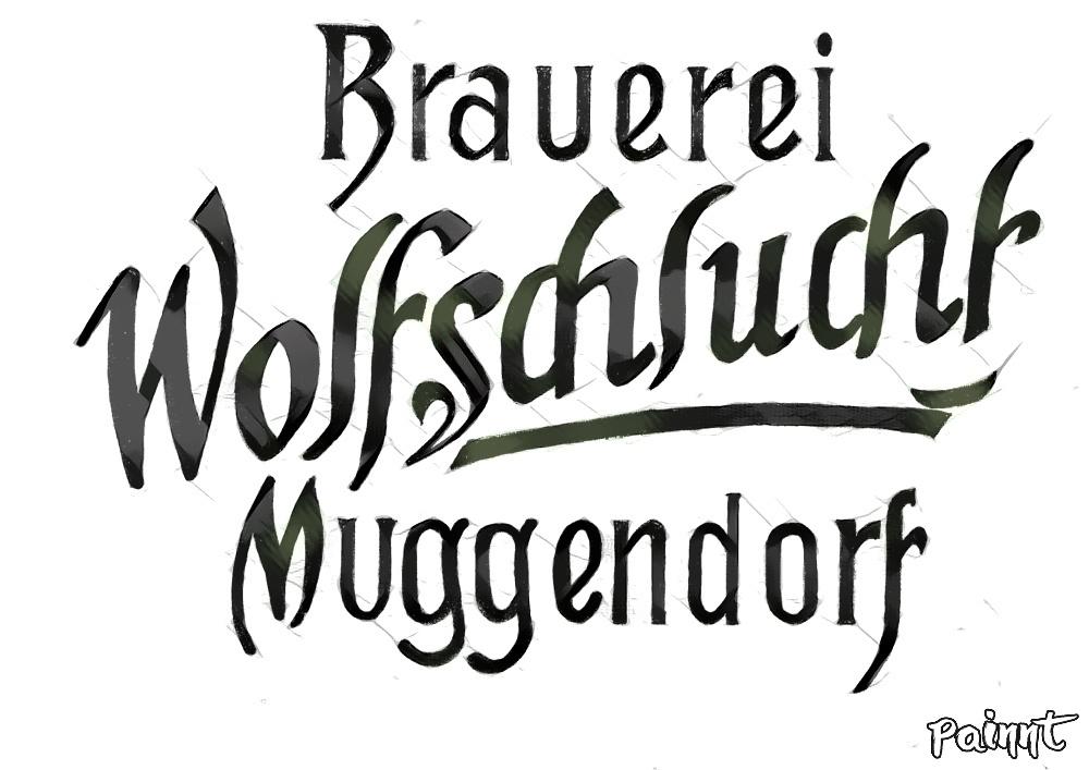 Historisches Logo der Brauerei Wolfschlucht anno 1900